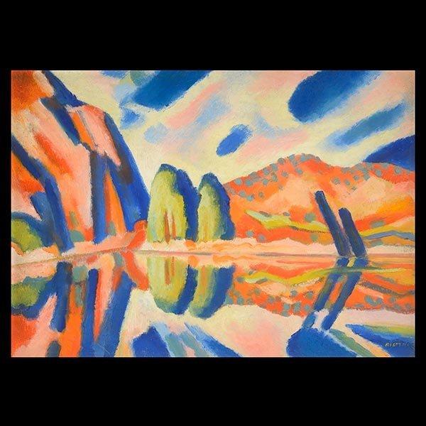 EMIL BISTTRAM   Reflection  Oil on canvas