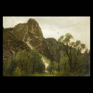 HERMANN HERZOG Sentinel Rock in Yosemite