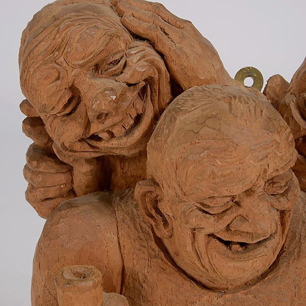 """EMIL JANEL  """"The Drinker""""  Woodcarving - 2"""