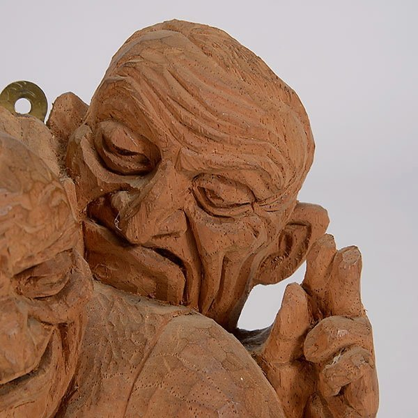 """EMIL JANEL  """"The Drinker""""  Woodcarving - 3"""