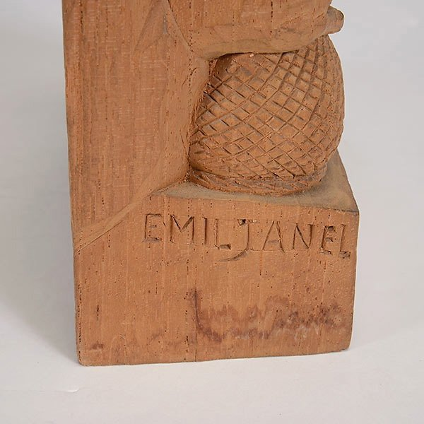 """EMIL JANEL  """"The Drinker""""  Woodcarving - 5"""