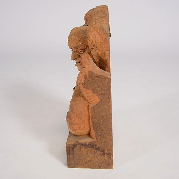 """EMIL JANEL  """"The Drinker""""  Woodcarving - 7"""