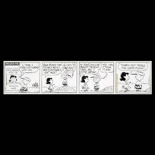"""CHARLES SCHULZ """"Lucy and Charlie Brown Comic"""" Ink"""
