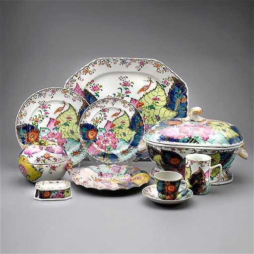 Mottahedeh Tobacco Leaf Porcelain Service (56)