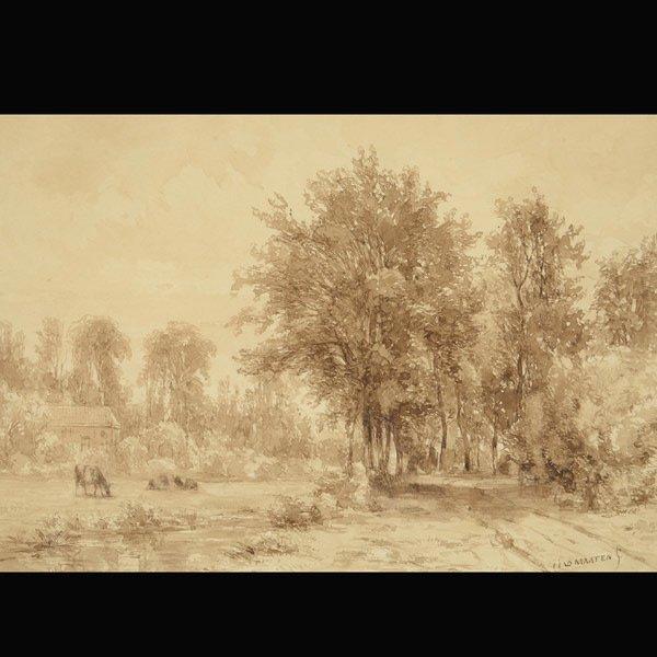 """JACOB JAN VAN DER MAATEN  """"Woodland Landscape"""""""