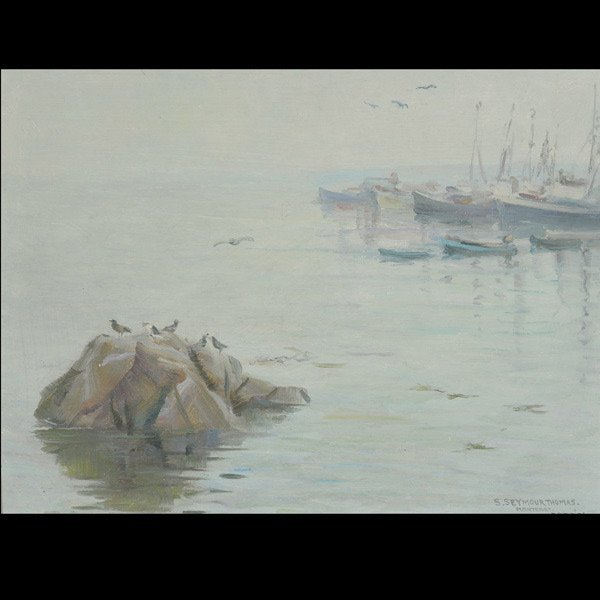 """STEPHEN SEYMOUR THOMAS """"Monterey, 1936""""  Oil"""