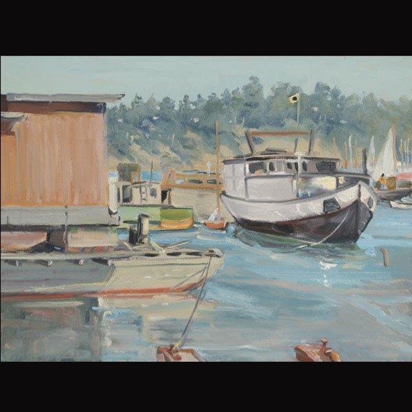 "JUDSON A. PERKINS  ""Sausalito Houseboats"""