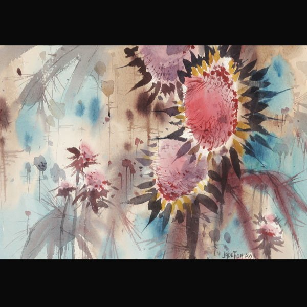 "JADE FON  ""Sunflowers""  Watercolor"
