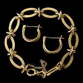 COLLECTION OF TWO 14K YELLOW GOLD JEWELRY ITEMS