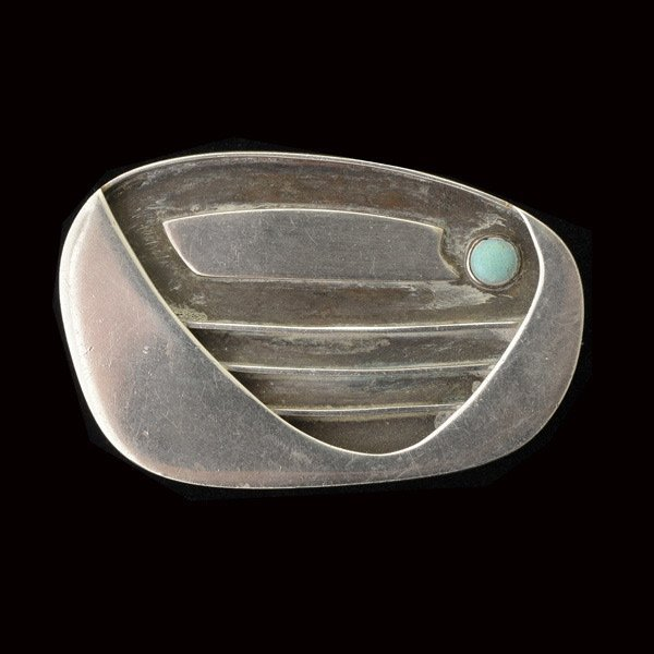 Modernist Silver Pin.