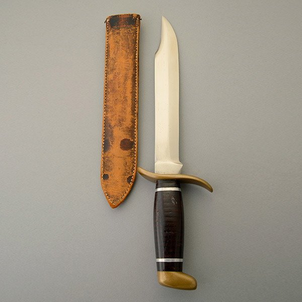 Hunting Knife with Brass Crossguard