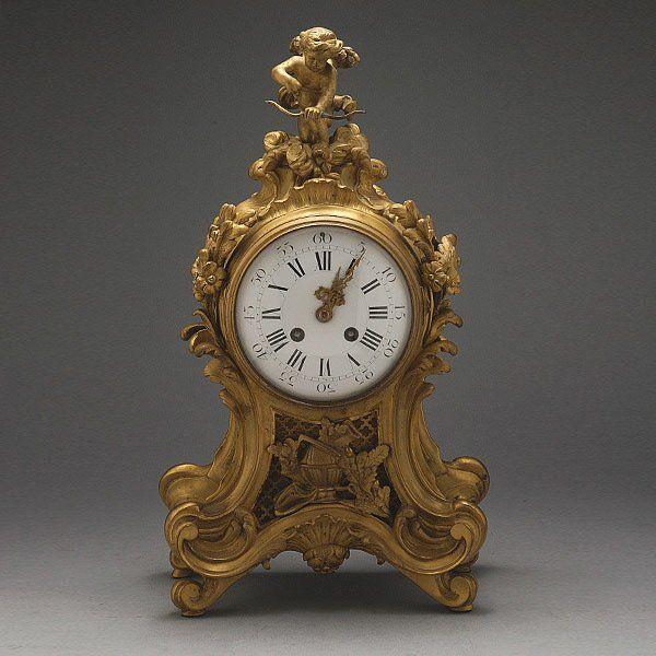 Louis XV Style Gilt Bronze Clock RetailedTiffany