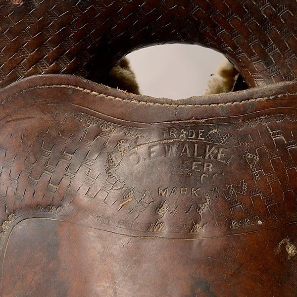 Vintage Visalia Saddle, D. E. Walker - 2