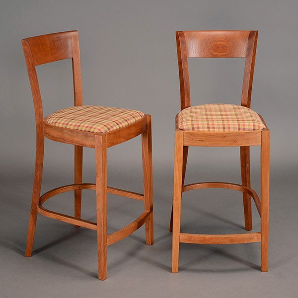 Two Thomas Moser Bar Stools.