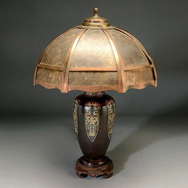 Lilian Palmer Table Lamp with Mica Shade