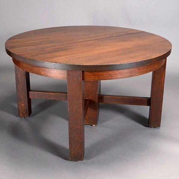 Oak Table with Split Pedestal