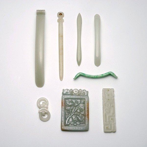 Eight Jade Carvings