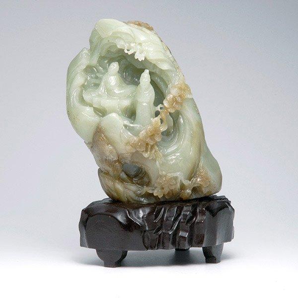 A Carved Jade Boulder