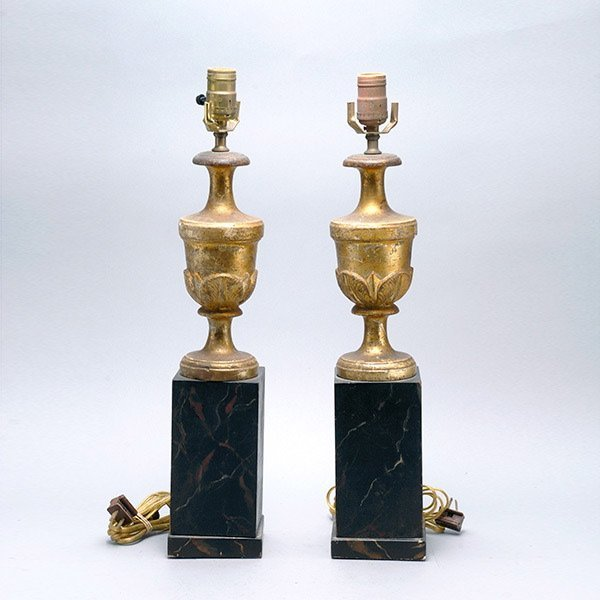 Pair of Italian Neoclassical Style Urn Table Lamps