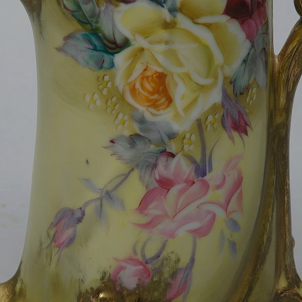 Gilded Hand Painted Nippon Pitcher - 2