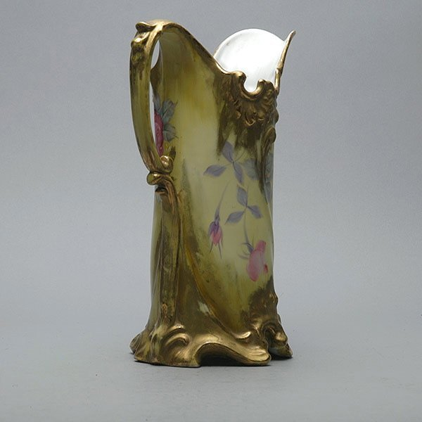 Gilded Hand Painted Nippon Pitcher - 3
