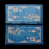 Pr of Art Deco Chinese Rugs: