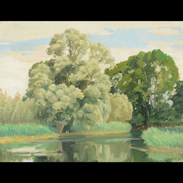 Painting, French Landscape, early 20th century
