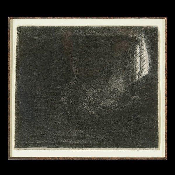 REMBRANDT VAN RIJN  St. Jerome in a Dark Chamber