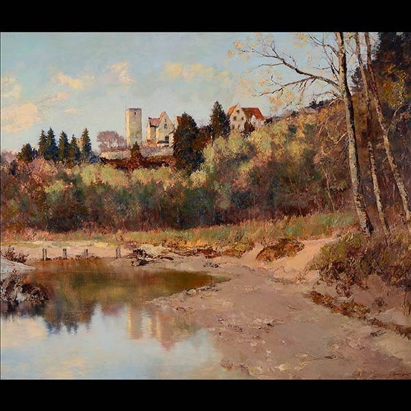Early 20th C. European landscape by ADELE ESINGER