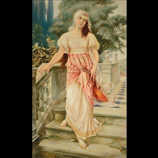 Painting, Italian School  Peasant Woman