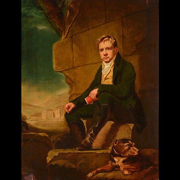 Painting Portrait of Sir Walter Scott After RAEBURN