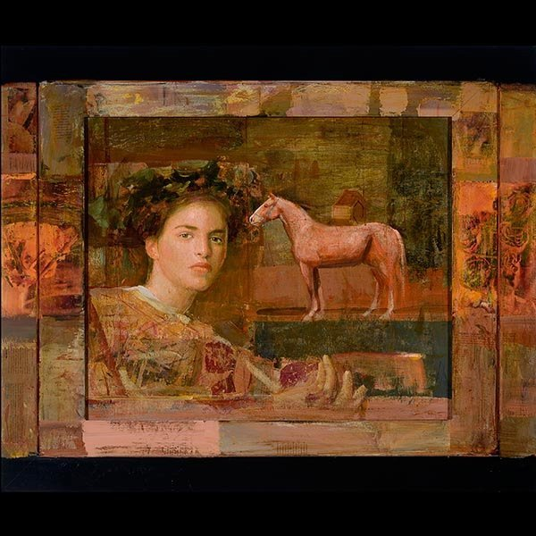 """Painting, MERSAD BERBER """"Figure with Horse"""""""