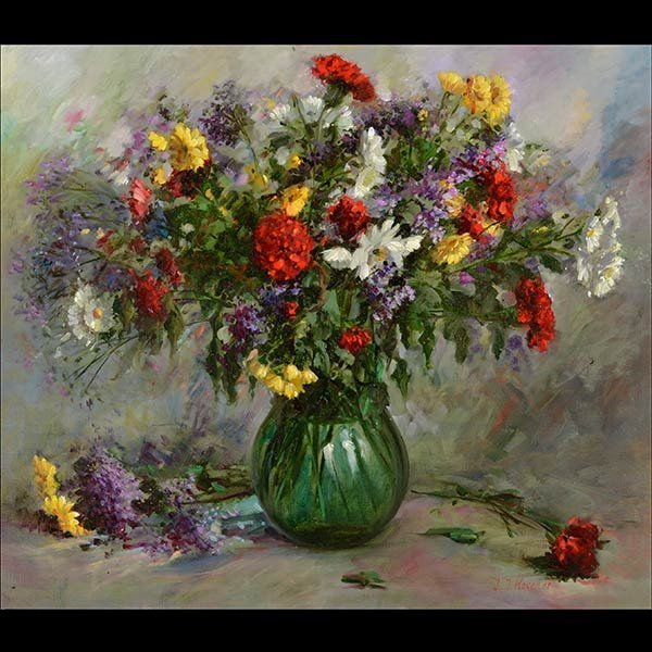 Painting, Still Life, Oil on canvas By HOVENER
