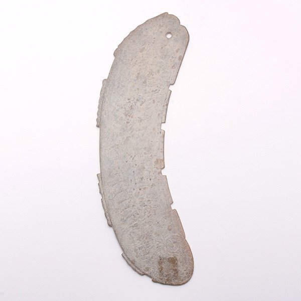 A Jade Fish-Form Pendant , Late Shang/Early W. Zhou