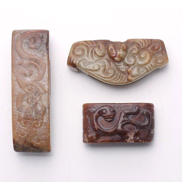 Three Jade Sword Ornaments, Warring States Period