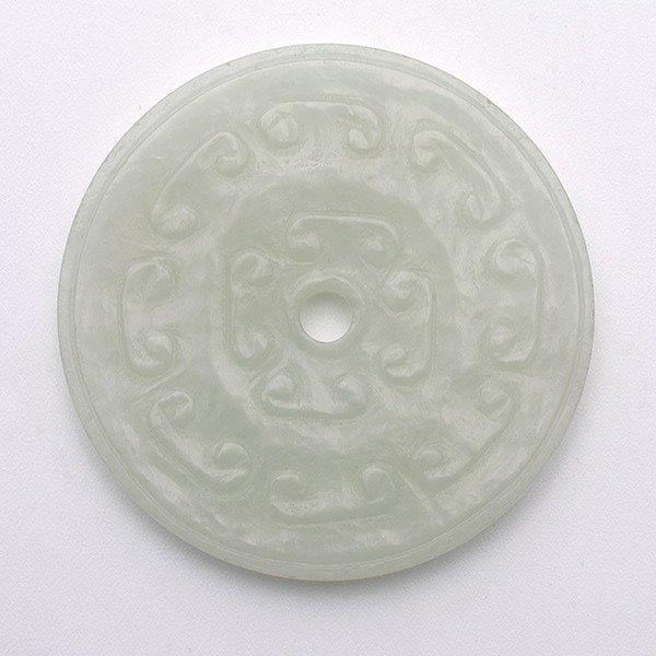 A White Jade Bi Disk, 18th/19th C.