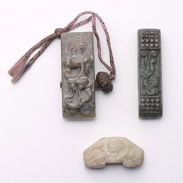 Three Jade Sword Fittings, Ming Dynasty