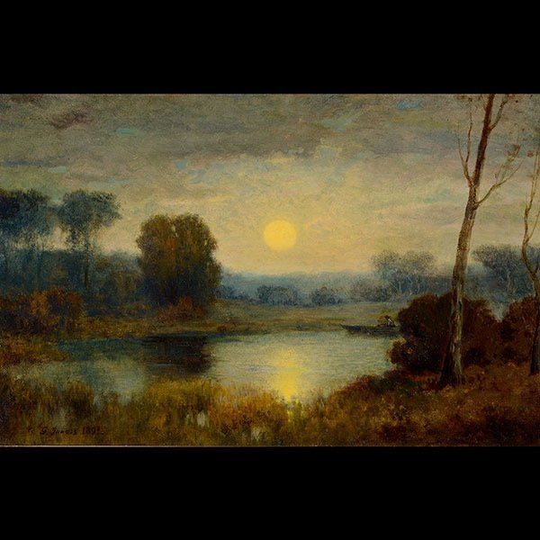 ATTR. TO GEORGE INNESS, SUNSET LANDSCAPE