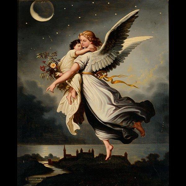 AFTER KAULBAUCH, German Art Guardian Angel