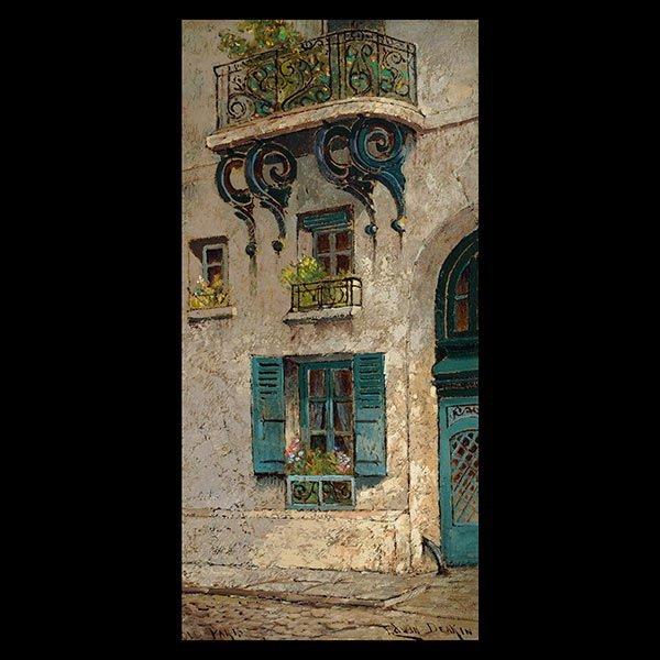 """EDWIN DEAKIN """"Old Paris"""" Oil on canvas"""
