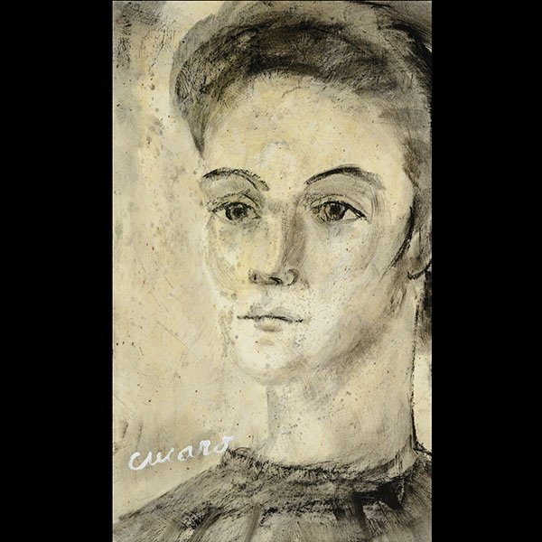 CUCARO Portrait of a woman, Oil on canvas