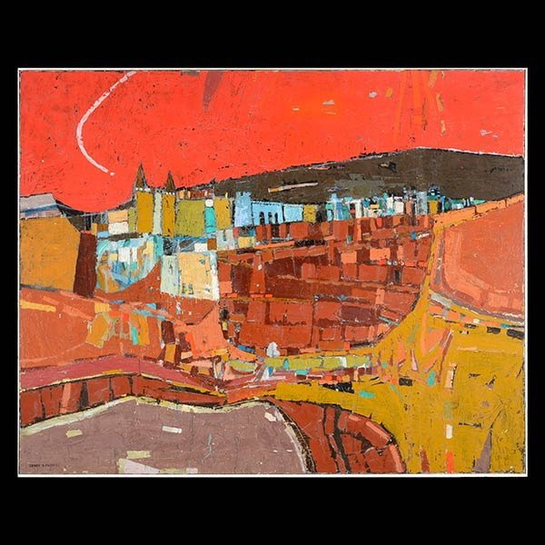 LUNDY SIEGRIEST Large Abstract Landscape