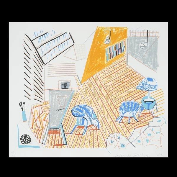 "DAVID HOCKNEY  ""Pembroke Studio Interior, 1984"""