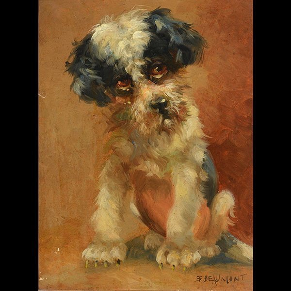 FREDERICK BEAUMONT  Portrait of a Dog