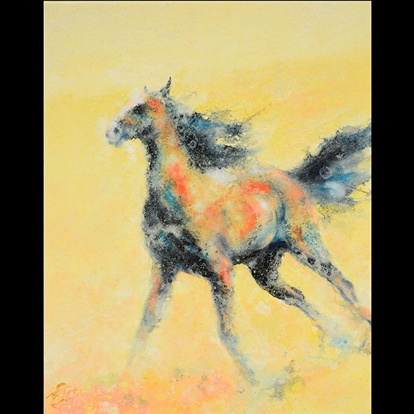 Impressionist Horse painting, Hu Chi Chung