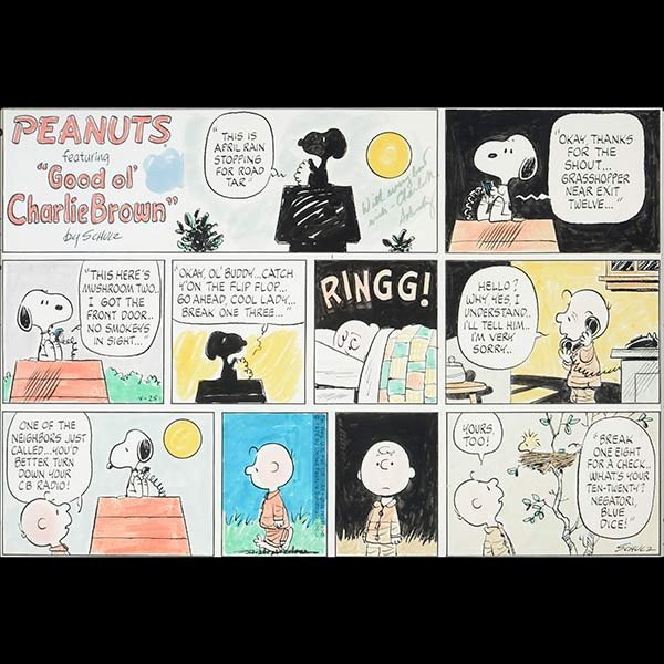 CHARLES SCHULZ Charlie Brown Sunday Comic Strip