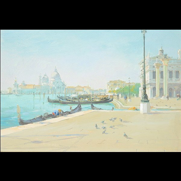 "ITALICO BRASS ""Venice"" Oil on canvas"