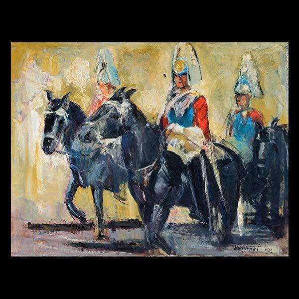 VERHOEF Household Cavalry Oil on Canvas
