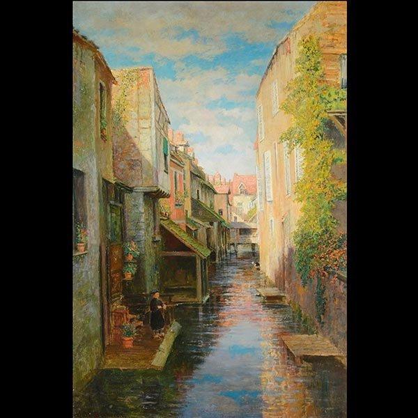 "ROBERT VAN BOSKERCK  ""Venetian Canal"" o/c"
