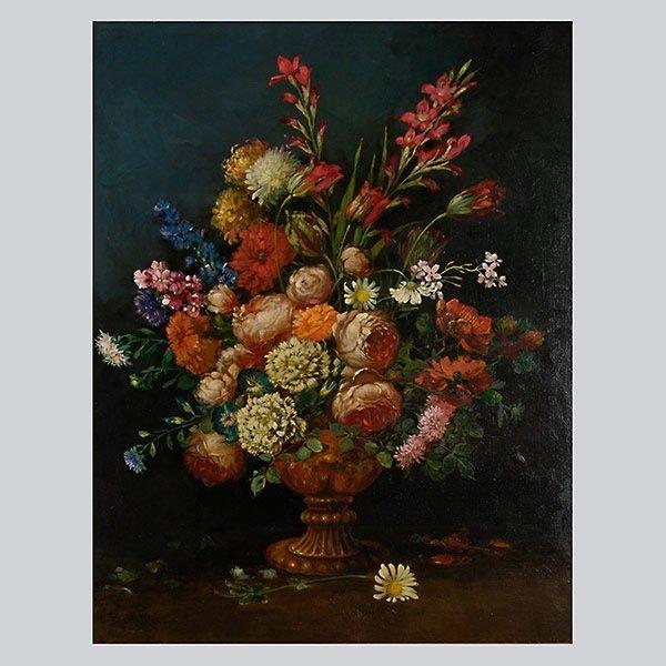 "BENIGINO Y RUIZ ""Floral Still Life"" Oil"